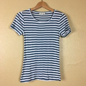 Madewell Sandoval Striped Short Sleeve Tee Shirt